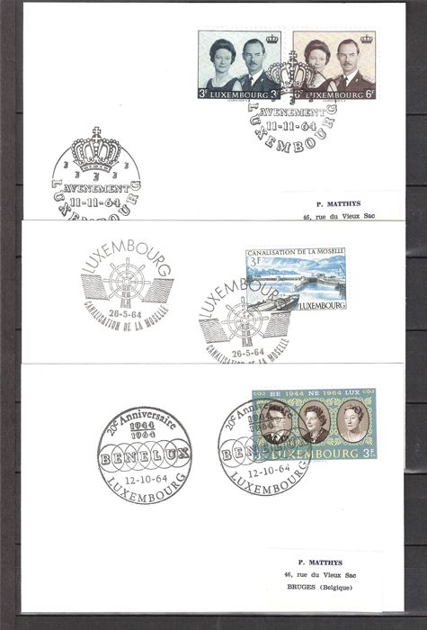 Luxembourg - Batch of letters and cards with special postmarks