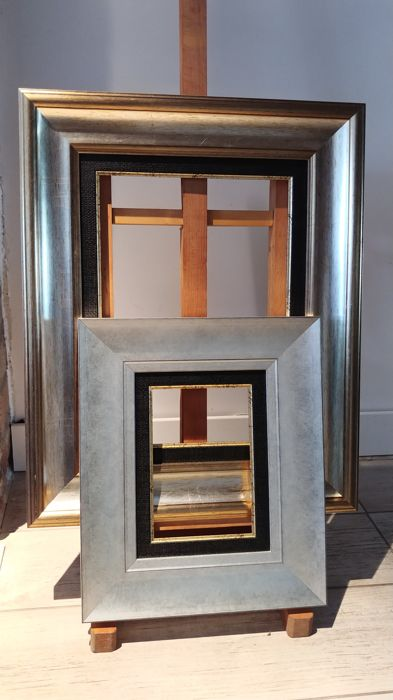 Silver Modern Picture Frames On Two Modern Silver Frames Catawiki