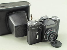 ZENITH-E, with Industar-50-2 3.5/50 mm with bag
