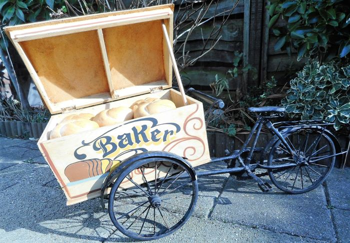 Miniature baker's bicycle (baker's cart) - 2nd half of the 20th century