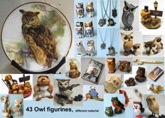 Super cute collectible bundle of 43 owls were brought from all over the world are very well made, and look great.
