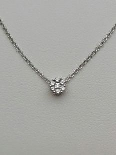 """Giorgio Visconti"" women's necklace in 18 kt white gold with natural diamonds totalling 0.07 ct Weight: 2.5 g"
