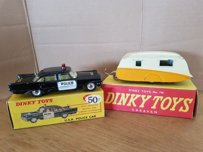 Dinky Toys - # 190 Caravan and # 258 USA police car