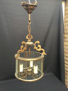 Sciolari Italy - Lantern lamp with 3 candles