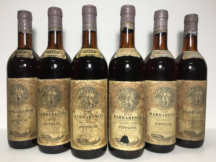 1970 x3, 1973 x3 Giovanni Pippione Barbaresco DOC - 6 Bottles (75cl)