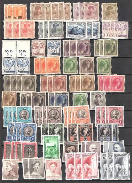 Luxembourg - Composition of stamps, blocks and sheets from 1920