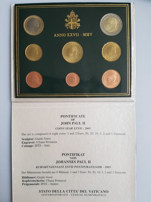 Vatican Year Collections 2005 Neutral And Sede Vacante 2 Pieces