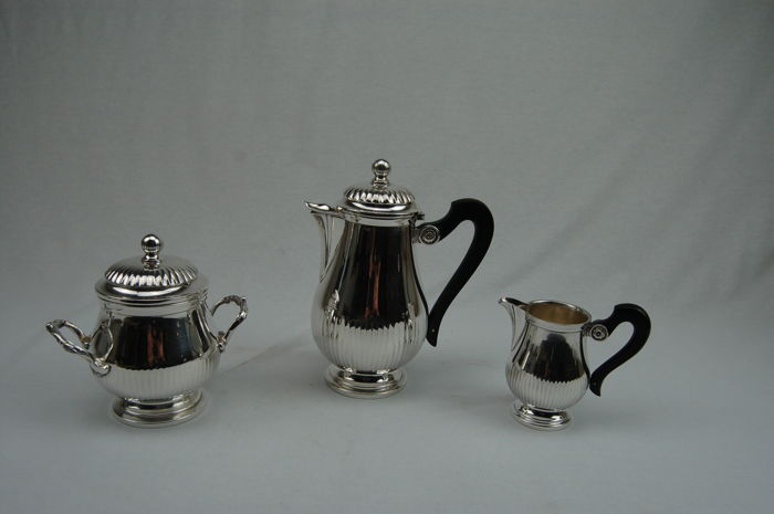 Coffee set Gallia Christofle 1st half 20th century France.