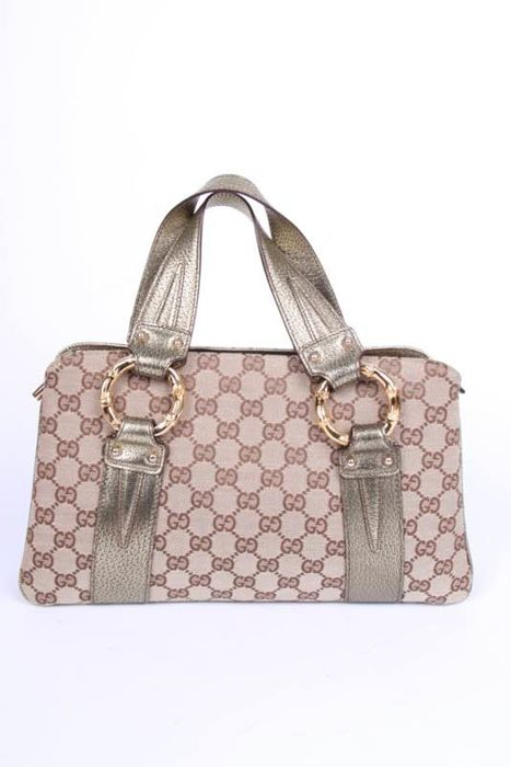 Gucci - GG Canvas Metal Bamboo Sac à main - Catawiki c3ce16994644