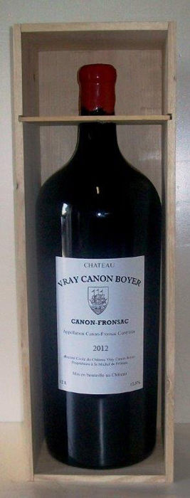 2012 Chateau Vray Canon Boyer, Canon-Fronsac - Balthazar 12l in OWC