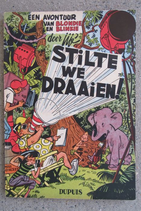 Blondie en Blinkie - Stilte we draaien! - sc - 1e druk - (1954)