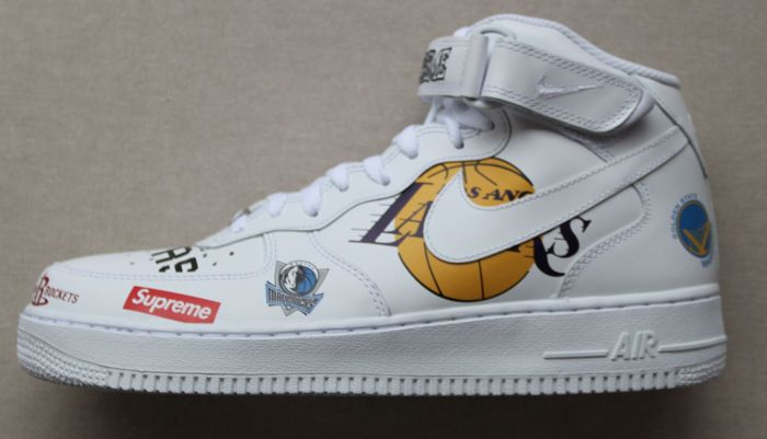 new style 3dfb8 59231 Nike Air Force 1 Mid Supreme NBA - Sneakers - Catawiki