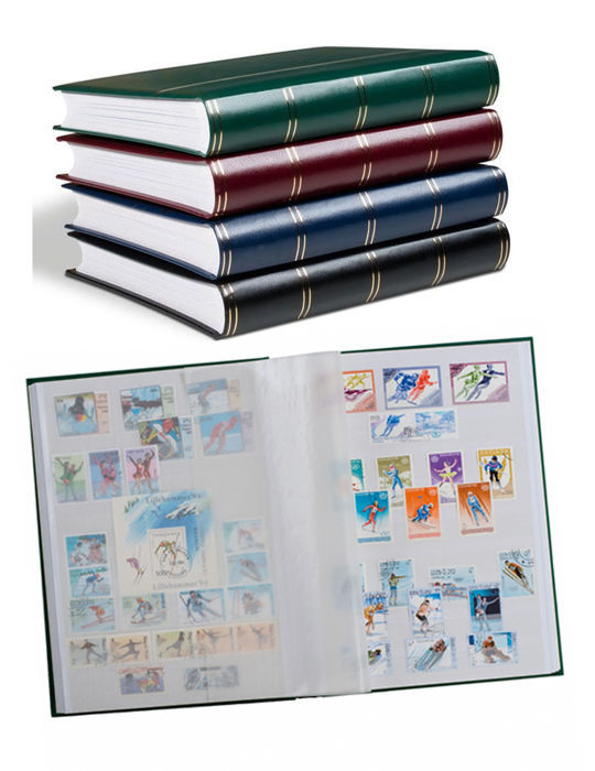 Accessories - 5 Leuchtturm Stock albums with 48 white pages