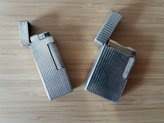 Dupont & Dunhill lighter - silver plated - 1950/1960