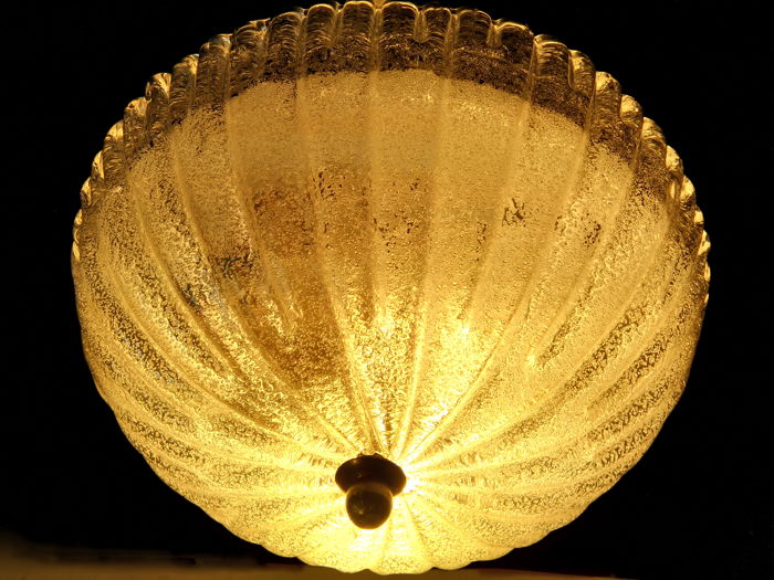 Ceiling lamp in Murano glass - Italy - 1960s