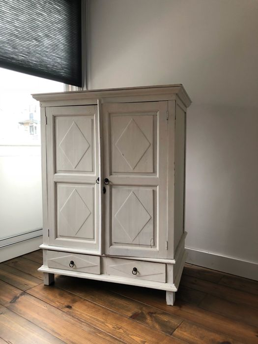 A White Painted Linen Closet, Early 20th Century
