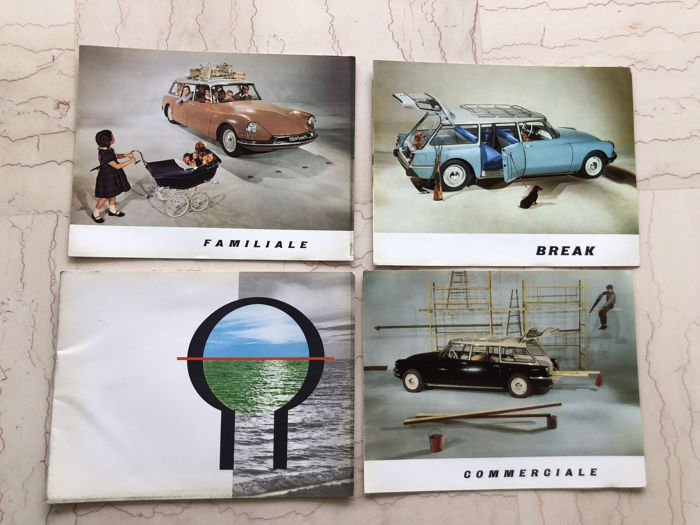 Lot of brochures - Citroën ID 19 - 1950s