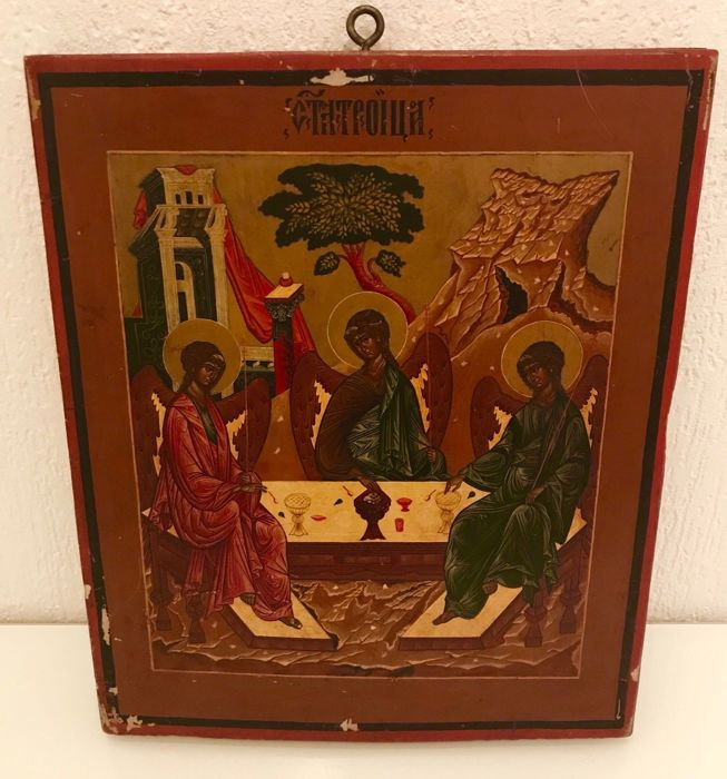 "Russian icon ""Trinity"" - late 19th early 20th century"