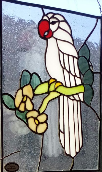 """Stained glass sun-catcher """"The Parrot"""""""
