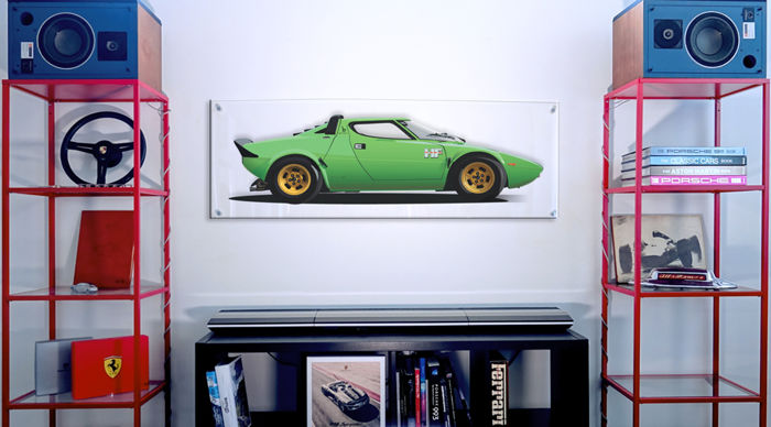 TL- Halmo Collection Lancia Stratos Plexiglas Panel