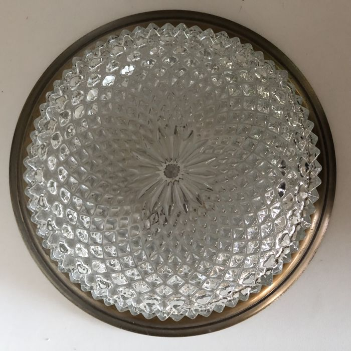 Ceiling Lamp Glass Cover: Ceiling Lamp With Cut Glass And A Ceiling Cover