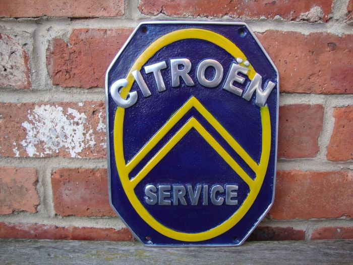 CITROËN / oil gas sign, heavy garage sign made of cast aluminium