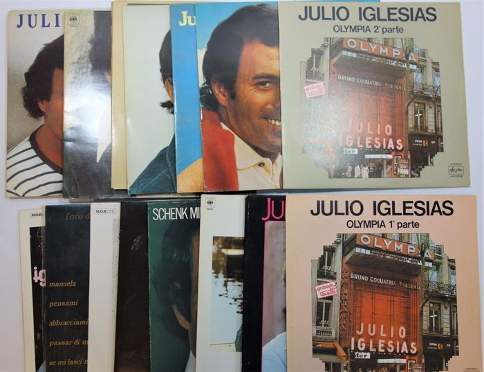 Latin / Pop ; Julio Iglesias , Lot with 16 albums
