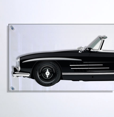 TL - Halmo Collection. pannello in plexiglas Mercedes 300 SL Roadster