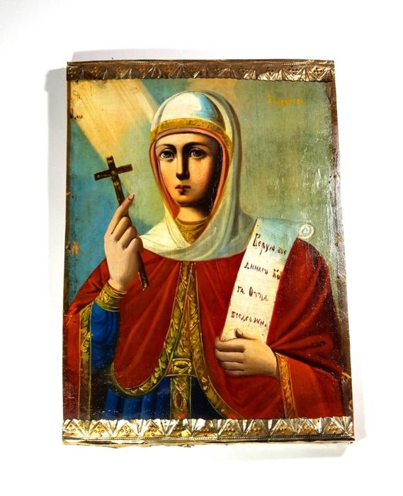 "Russian orthodox icon ""S. Paraskeva"" - late 19th century/early 20th century"