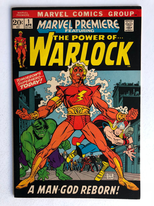 Marvel Comics - Marvel Premiere #1 - 1st Appearance of Him as Warlock & The Soul Gem & Origin Counter Earth - Very High Grade!!! - Key Book! - 1x sc - (1972)