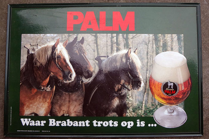 Cardboard advertising sign - Palm Beer - 1980s?