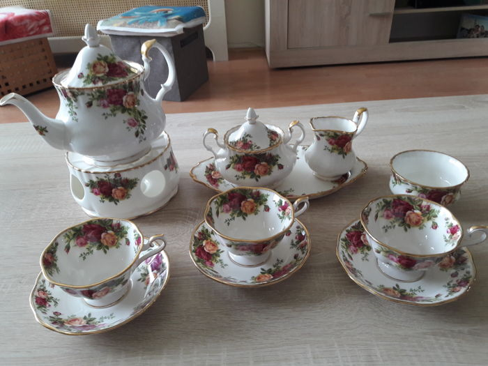 Royal Albert - thee servies voor 3 personen - Old Country Roses