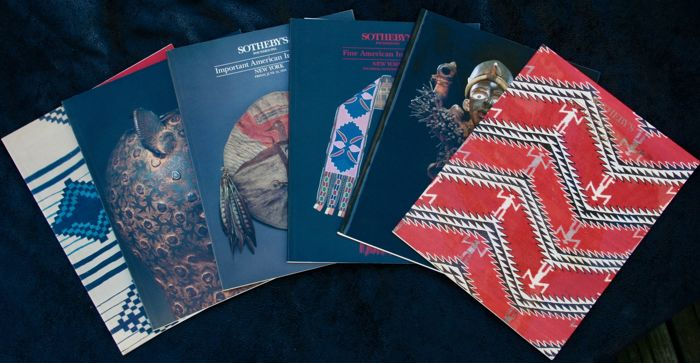 Lot of 6 Sotheby's reviews, 2 about African art - 3 about Indian art - 1 about Western art