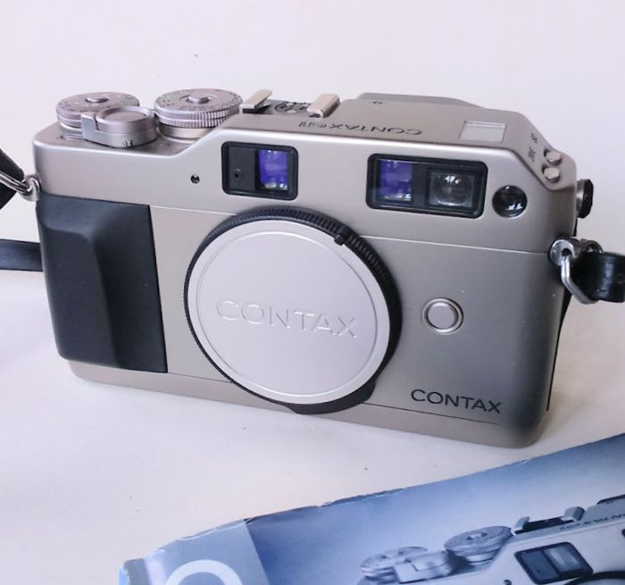 contax g1 35mm data back gd 1 cap and strap instruction manual rh auction catawiki com Contax T3 Contax T3
