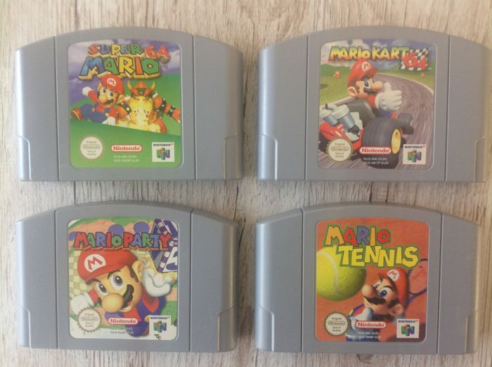 4 Nintendo 64 Mario Games Like Mario Kart Mario Party And