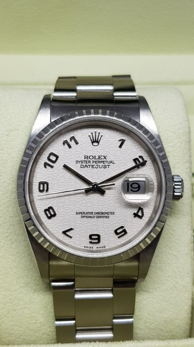 Rolex -  Oyster Perpetual Datejust  - 16220 - Heren - 2005