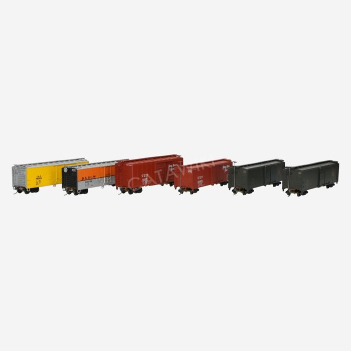 Walthers H0 - Verschillende wagons  - Goederenwagon - Reefer Boxcars - o.a. NKP, CNJ, C&O, D&RGW