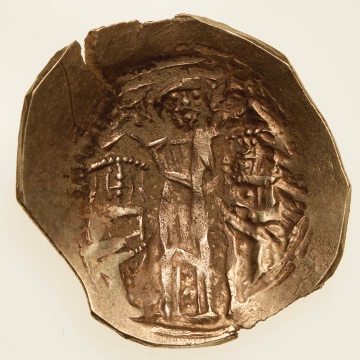 Byzantine Empire - Andronicus II with Andronicus III, 1282-1328. AV Hyperpyron. Constantinople mint. Struck 1325-1334.