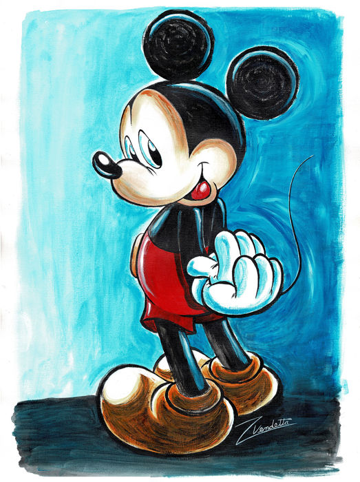 Happy Mickey Mouse - Original Acrylic Painting - Z. Vendetta - 65x50 cm - First Edition