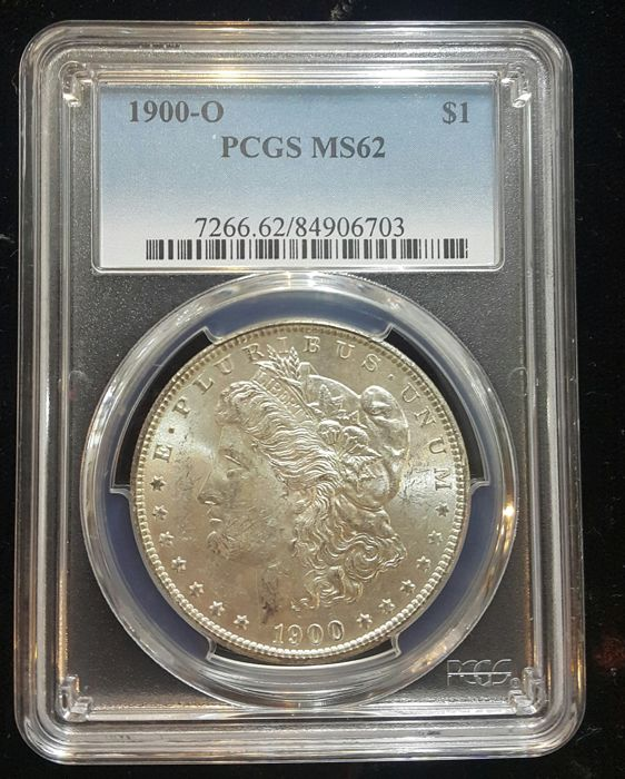 United States - Dollar (Morgan) 1900 O (New Orleans) in PCGS Slab - silver