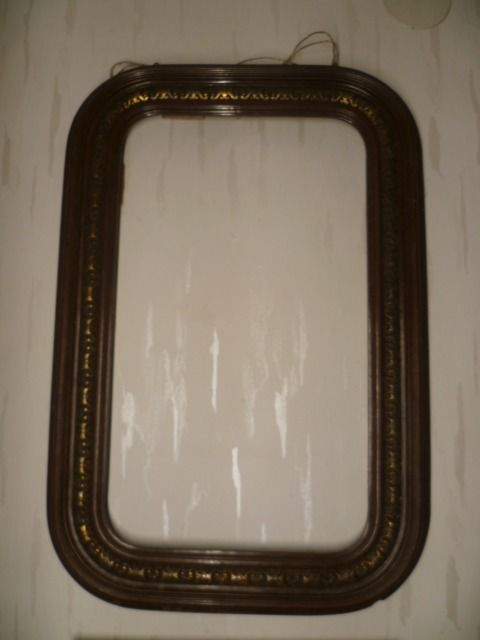 Old historicism frame with gilded floral band as decoration, rounded edges, ca. 1880-1900