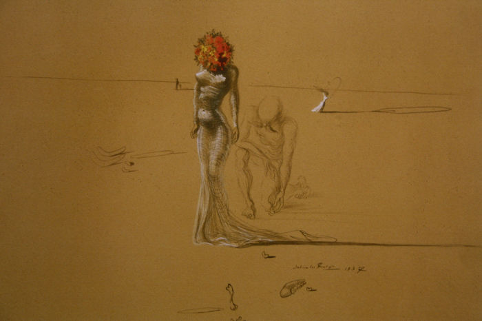 Salvador Dalí (after) - Head of Roses