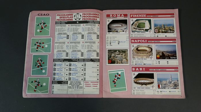 Panini - WC 1990 Italy - Italia '90 - World Cup - Complete Album.
