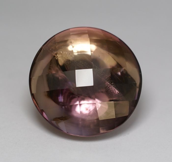 Ametrin bicoloured (violet-brownish-yellow) - 58.34 ct - No Reserve Price
