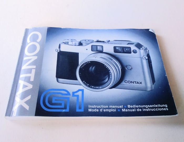 contax g1 35mm data back gd 1 cap and strap instruction manual rh auction catawiki com Contax T2 Contax G1 Digital