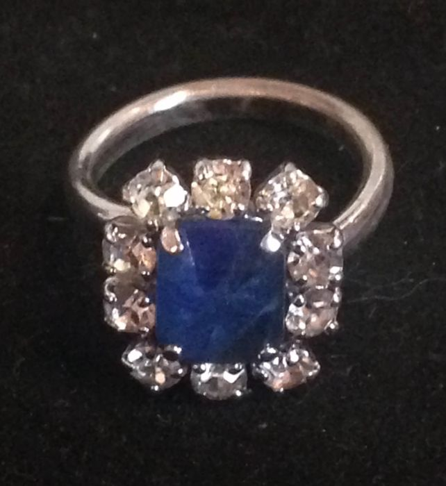 Dior ring with transparent rock quartz and blue glass - Vestiaire Collective