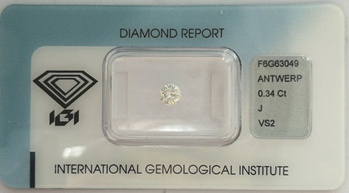 Brilliant cut diamond  0.34 ct  J VS2***Low Reserve Price***