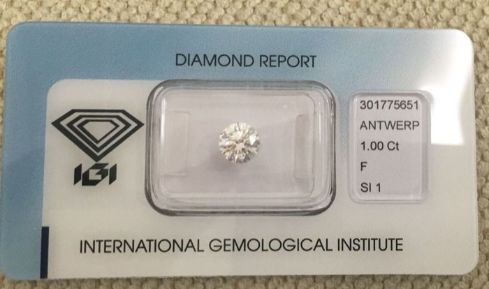 Diamante 1.00 ct F SI1