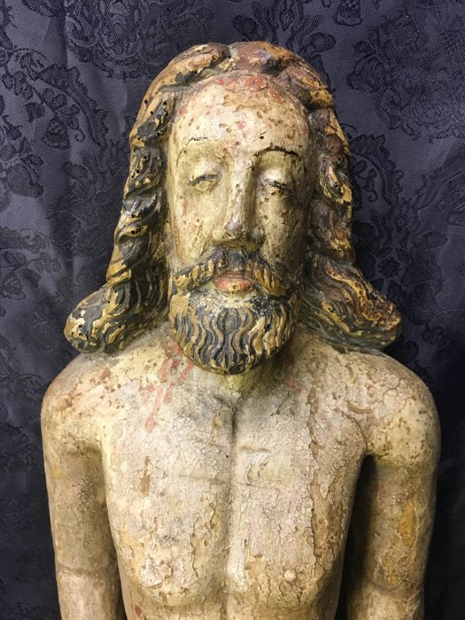 Polychrome wood carved Corpus Christi - 18th/19th century