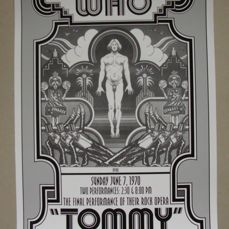 The Who 'Tommy' - Beautiful Art Print - Broadway Show New York - 1970 - by David Byrd
